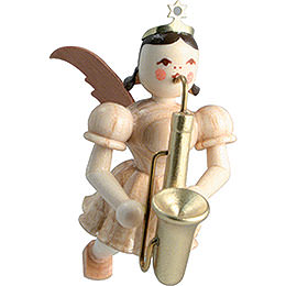 Schwebeengel Saxophon, natur  -  6,6cm