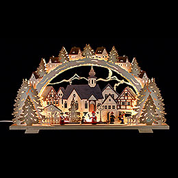 Schwibbogen Adventszeit exclusiv  -  72x41x7cm