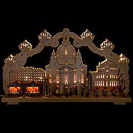 Schwibbogen Dresden Striezelmarkt  -  70x40cm