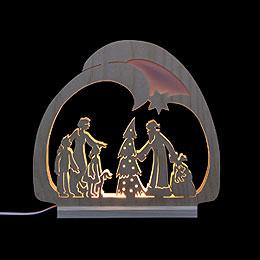 Schwibbogen LED - Leuchter Weihnachtsmann  -  30x28,5x4,5cm