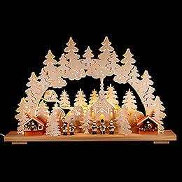 Schwibbogen Weihnachtsmarkt  -  70x42cm