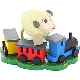 "Sheep ""Bähnli"", with Rail Road  -  5,5cm / 2.2 inch"