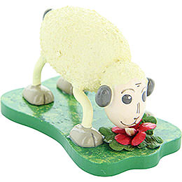 "Sheep ""Mampfi"", Eating  -  4,5cm / 1.8 inch"