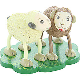 "Sheep ""Quatschi"" and ""Tratschi"", Gossiping  -  5cm / 2 inch"