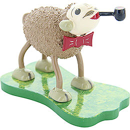 "Sheep ""Smoky"", with Bow Tie and Pipe  -  5cm / 2 inch"