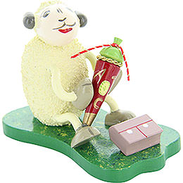 "Sheep ""Tütli"", with Sweetie Hat  -  5,5cm / 2.2 inch"