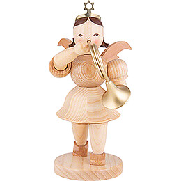Shortskirt Angel Natural, with French Horn  -  20cm / 7.8 inch