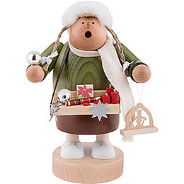 Smoker  -  Christmas Fair Sales Woman  -  20cm / 8 inch