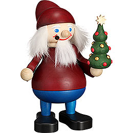 Smoker  -  Christmas Heinzel with Tree  -  15cm / 5.9 inch