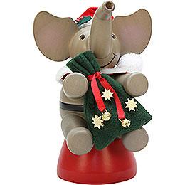 Smoker  -  Elephant Santa Claus  -  20cm / 7.9 inch