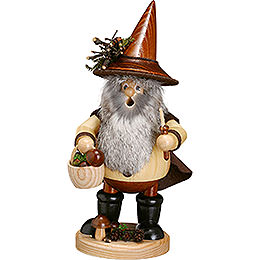 Smoker  -  Forest Gnome Mushroom Picker, Natural  -  25cm / 10 inch