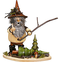 Smoker  -  Forest Gnome on Board: Lumberman at Work  -  26cm / 10 inch