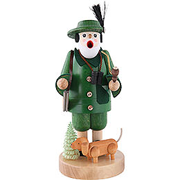 Smoker  -  Forest Ranger with Dachsdog  -  19cm / 7 inch