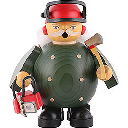 Smoker  -  Forest Worker with Saw  -  14cm / 5.5 inch