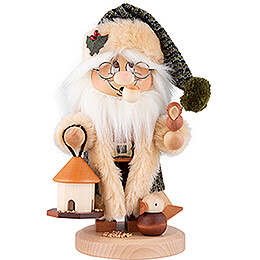 Smoker  -  Gnome Santa Claus Bird Feeding  -  29,5cm / 11.6 inch