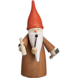 Smoker  -  Gnome Wood Turner  -  16cm / 6.3 inch