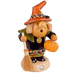 Smoker  -  Halloween Witch with Pumpkin  -  11cm / 4 inch
