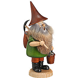Smoker  -  Mountain Gnome with Pick  -  18cm / 7 inch
