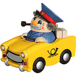 Smoker  -  Postman in Trabi  -  Limited Edition  -  Ball Figure  -  11cm / 4.3 inch