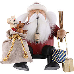 Smoker  -  Santa Claus  -  Edge Stool  -  16cm / 6 inch