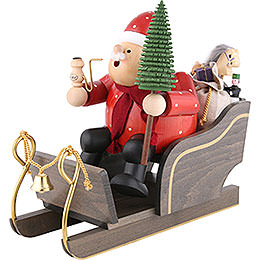 Smoker  -  Santa Claus with Sleigh  -  30cm / 12 inch