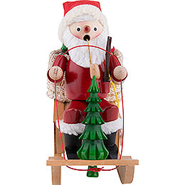 Smoker  -  Santa - Sleigh with Music  -  25cm / 10 inch