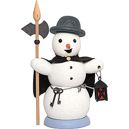 Smoker  -  Snowman Night Watch Man  -  13cm / 5.1 inch