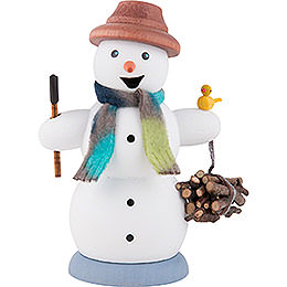 Smoker  -  Snowman Wood Gatherer  -  13cm / 5.1 inch