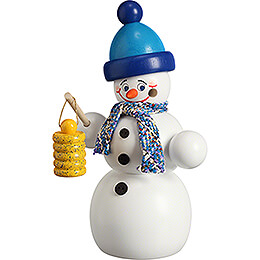 Smoker  -  Snowman with Lantern  -  16cm / 6.3 inch