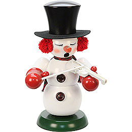 Smoker  -  Snowman with Violin  -  60cm / 24 inch