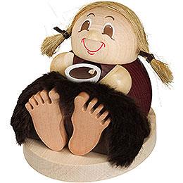 Smoker  -  Stoneager Frieda  -  Ball Figure  -  9cm / 4 inch