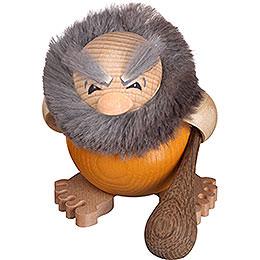 Smoker  -  Stoneager Grobi  -  Ball Figure  -  8cm / 3 inch
