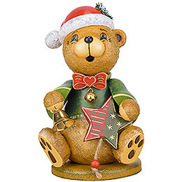 Smoker  -  Teddy Christmas Claus  -  20cm / 7.8 inch