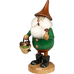 Smoker  -  Timber - Gnome Mushroom Foray Green  -  Hat Brown  -  15cm / 6 inch