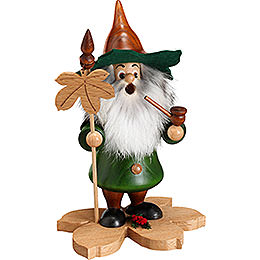 Smoker  -  Tree Gnome, Chestnut Leaf  -  18cm / 7 inch
