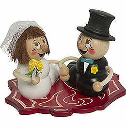 Smoker  -  Worm Bridal Couple Rudi and Rosi  -  14cm / 5.5 inch