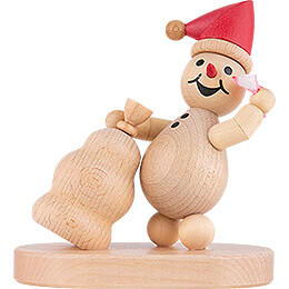 "Snowman  -  Junior ""Gift Puller"" red cap  -  10cm / 3.9 inch"