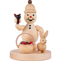"Snowman  -  Junior ""Rabbit, Basket""  -  8cm / 3.1 inch"