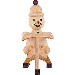 "Snowman  -  Junior ""Skibob""  -  9cm / 3.5 inch"