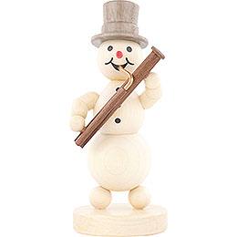 Snowman Musician Bassoon  -  12cm / 4.7 inch