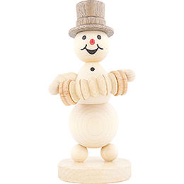 Snowman Musician Concertina Player  -  12cm / 4.7 inch