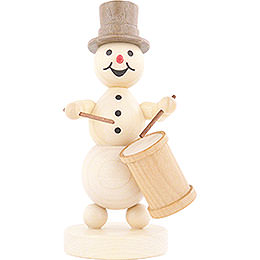 Snowman Musician Long Drum  -  12cm / 4.7 inch