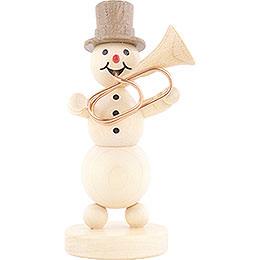 Snowman Musician Tuba  -  12cm / 4.7 inch