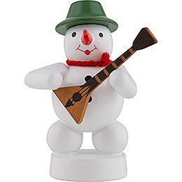 Snowman Musician with Balalaika  -  8cm / 3 inch