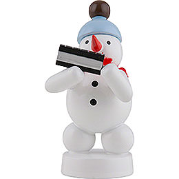 Snowman Musician with Harmonica  -  8cm / 3 inch