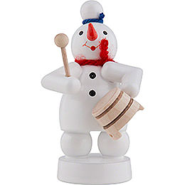 Snowman Musician with Pot  -  8cm / 3 inch