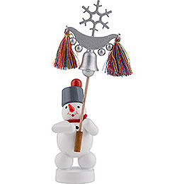Snowman with Bell Tree  -  13cm / 5 inch