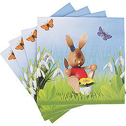 Snubby Bunny Napkins Gardener 12 pcs.