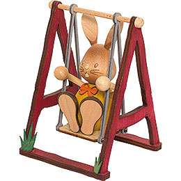 Snubby Bunny on Swing  -  12cm / 4.7 inch