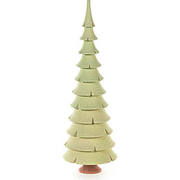 Solid Wood Tree  -  Bright Green  -  21cm / 8.3 inch